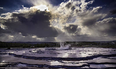 Yellowstone Geysers And Hot Springs Art Print