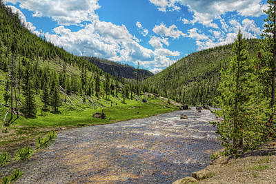 Photograph - Yellowstone Gibbon River by John M Bailey