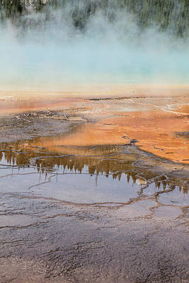 Photograph - Yellowstone Grand Prismatic Spring  by John McGraw