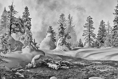 Print featuring the photograph Yellowstone In Winter by Gary Lengyel