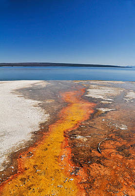 Photograph - Yellowstone Lake And West Thumb Geyser Flow by Ginger Wakem