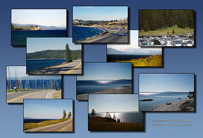 Beach Landscape Mixed Media - Yellowstone Lake In August Collage by Thomas Woolworth