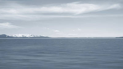 Photograph - Yellowstone Lake Long Exposure by Dan Sproul