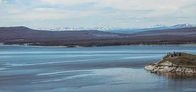 Mixed Media - Yellowstone Lake Panorama by Dan Sproul