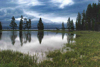 Photograph - Yellowstone Lake Reflection by Shari Jardina