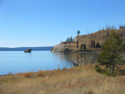Yellowstone Lake Se Art Print