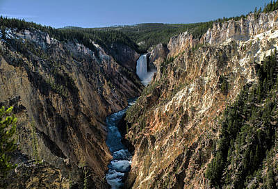 Photograph - Yellowstone Lower Falls Form Artist Point by Alex Galkin