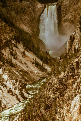 Photograph - Yellowstone Lower Falls by Robert Bales