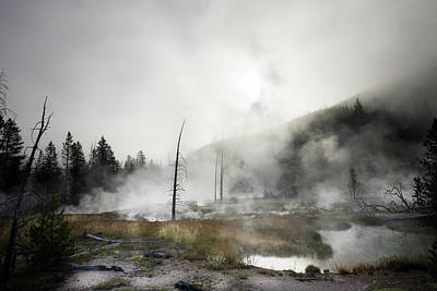 Photograph - Yellowstone Morning Fog by James Bethanis