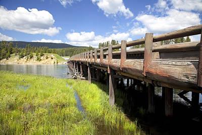 Photograph - Yellowstone National Park Fishing Bridge by Mark Smith