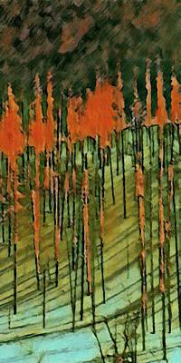 Digital Art - Yellowstone On Fire 2 by David Hansen