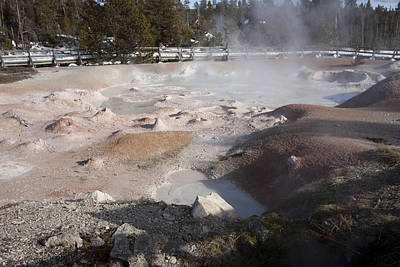 Photograph - Yellowstone Paint Pots by Mary Haber
