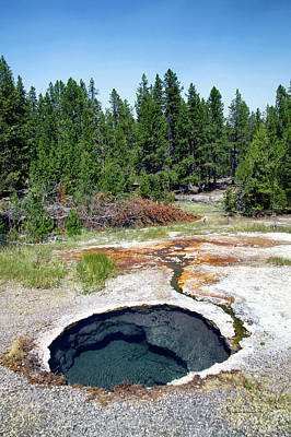 Yellowstone Mixed Media - Yellowstone Park Firehole Spring Area Vertical 01 by Thomas Woolworth