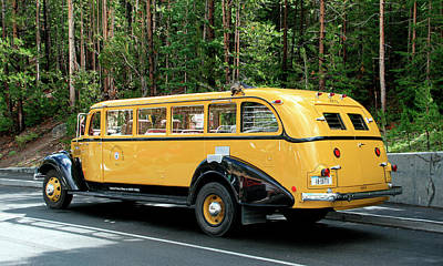 Photograph - Yellowstone Park Tour Bus by George Jones