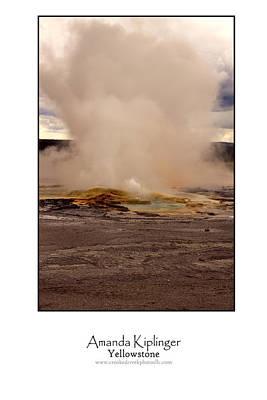 Yellowstone Digital Art - Yellowstone Poster by Amanda Kiplinger