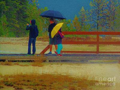 Photograph - Yellowstone Rain by Larry Campbell