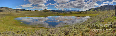 Photograph - Yellowstone Reflections Of The Sky by Adam Jewell