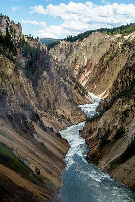 Photograph - Yellowstone River Below Lower Falls 2p by Frank Madia