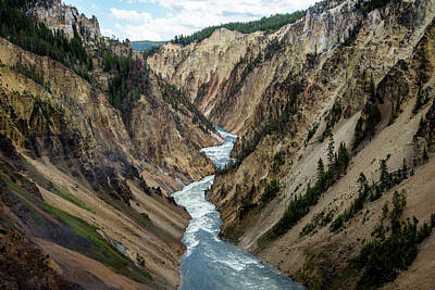 Photograph - Yellowstone River Below Lower Falls by Frank Madia