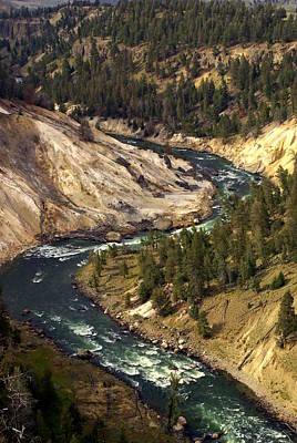 Yellowstone River Canyon Print by Marty Koch