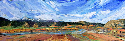 Painting - Yellowstone River by Carrie Jacobson