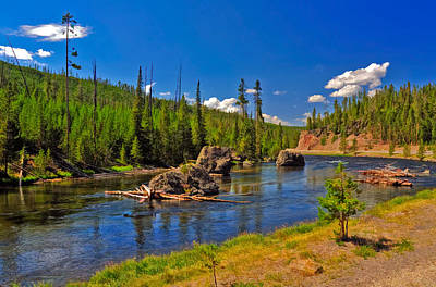 Photograph - Yellowstone River by Ginger Wakem