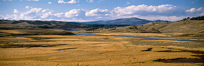 Yellowstone River In Hayden Valley Art Print by Panoramic Images