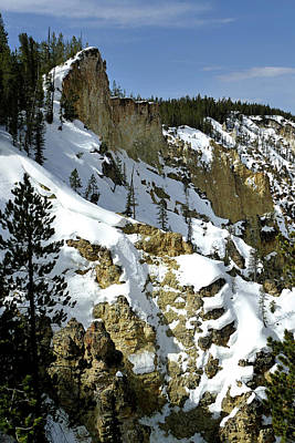 Photograph - Yellowstone River, Lower Falls 12 by Jeff Brunton