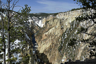 Photograph - Yellowstone River, Lower Falls 7 by Jeff Brunton