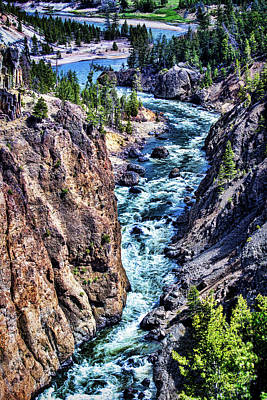 Photograph - Yellowstone River - The Narrows by Mike Braun