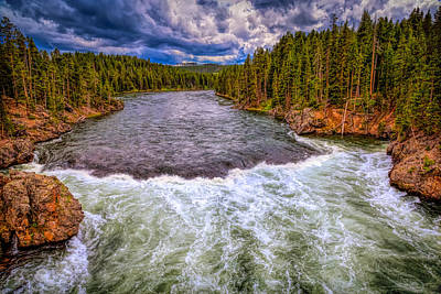 Photograph - Yellowstone River Unchecked by John M Bailey