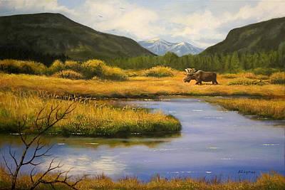 Yellowstone Saga Art Print by Brooke Lyman