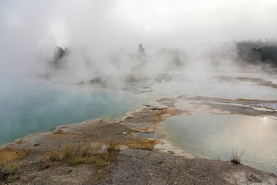 Photograph - Yellowstone - Steaming Pools by Penny Meyers