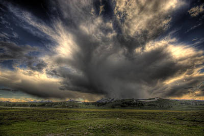 Photograph - Yellowstone Storm by Joe Sparks