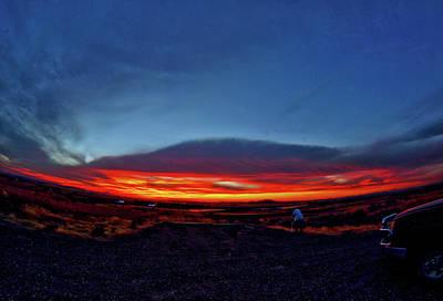 Yellowstone Sunset Art Print