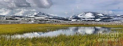 Photograph - Yellowstone Swan Lake Panoramic Reflections by Adam Jewell