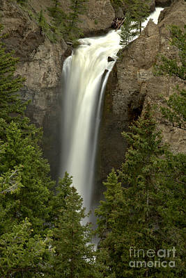 Photograph - Yellowstone Tower Falls Spring Portrait by Adam Jewell