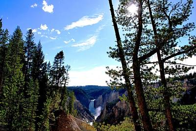 Photograph - Yellowstone Waterfall Distant View by Matt Harang