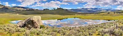 Photograph - Yellowstone Watery Landsape by Adam Jewell