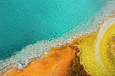 Pool Photograph - Yellowstone West Thumb Thermal Pool Close-up by Bill Wight CA