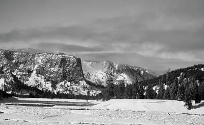 Photograph - Yellowstone Winter Mountain Vista by L O C