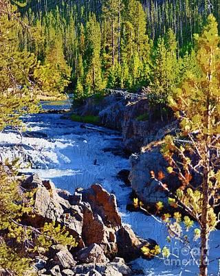 Yellowstone Digital Art - Yellowstone Wonder by Diane E Berry