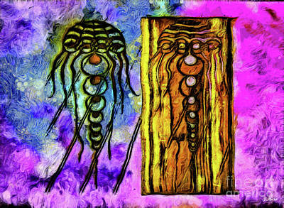 Medusa Mixed Media - Yellyfish Crop Circle by Julio Haro