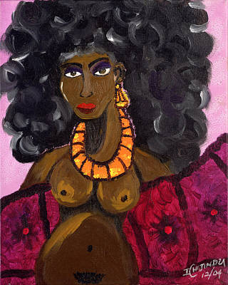 Yemaya Painting - Yemaya Aphrodite Gives Advice. by Ifeanyi C Oshun