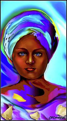 Spiritual Portrait Of Woman Digital Art - Yemaya -mother Of The Orishas by Carmen Cordova