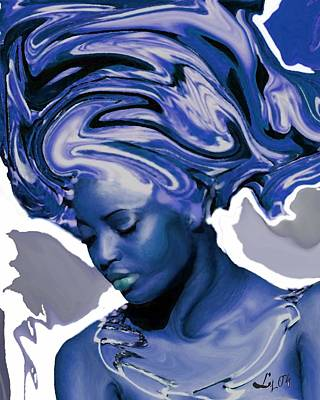 Yoruba Painting - Yemaya Okute by Liz Loz