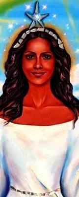 Yemaya Painting - Yemaya-the Goddess by Carmen Cordova