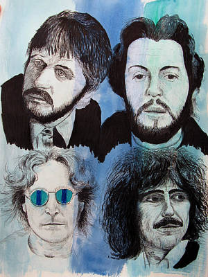 Fab Four Mixed Media - Yer Blues by Ron Enderland