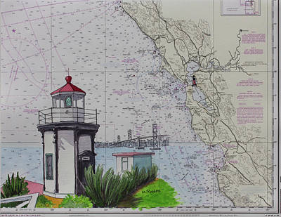 Painting - Yerba Buena Island Lighthouse by Mike Robles