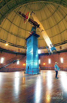 Photograph - Yerkes Observatory Williams Bay Telescope  by Tom Jelen